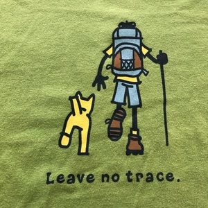 Life is Good Men's Leave No Trace Hiking Tee Shirt